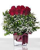 Amasya çiçek , çiçekçi , çiçekçilik  11 adet gül mika yada cam - anneler günü seçimi -