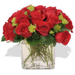 Amasya çiçekçi telefonları  10 adet kirmizi gül ve cam yada mika vazo