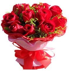 9 adet kirmizi güllerden kipkirmizi buket  Amasya çiçekçiler