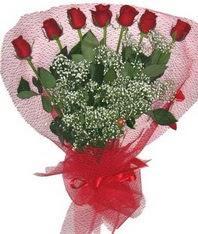 7 adet kipkirmizi gülden görsel buket  Amasya çiçek mağazası , çiçekçi adresleri
