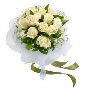 Amasya online çiçekçi , çiçek siparişi  11 adet benbeyaz güllerden buket