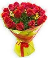 19 Adet kırmızı gül buketi  Amasya çiçek siparişi vermek