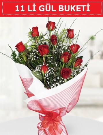 11 adet kırmızı gül buketi Aşk budur  Amasya çiçek gönderme sitemiz güvenlidir