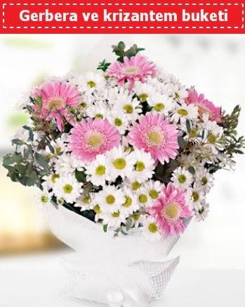 Papatya ve Gerbera Buketi  Amasya çiçek , çiçekçi , çiçekçilik