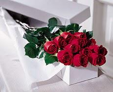 Amasya çiçek satışı  özel kutuda 12 adet gül