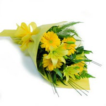 Amasya hediye sevgilime hediye çiçek  lilyum gerbera buketi özel