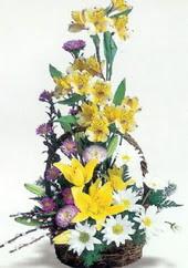 Amasya uluslararası çiçek gönderme  Sepette mevsim çiçekleri