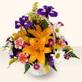 Amasya 14 şubat sevgililer günü çiçek  sepet içinde karisik çiçekler