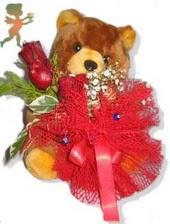 oyuncak ayi ve gül tanzim  Amasya çiçekçiler