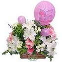 balon ve çiçeklerle tanzim  Amasya internetten çiçek satışı