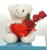 3 adetgül ve oyuncak   Amasya online çiçekçi , çiçek siparişi