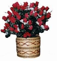 yapay kirmizi güller sepeti   Amasya kaliteli taze ve ucuz çiçekler