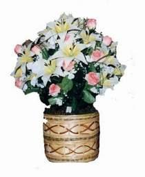 yapay karisik çiçek sepeti   Amasya çiçek servisi , çiçekçi adresleri