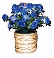 yapay mavi çiçek sepeti  Amasya cicekciler , cicek siparisi