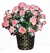 yapay karisik çiçek sepeti  Amasya çiçek online çiçek siparişi
