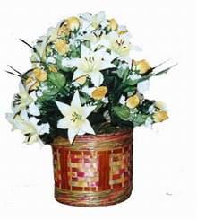 yapay karisik çiçek sepeti   Amasya cicekciler , cicek siparisi