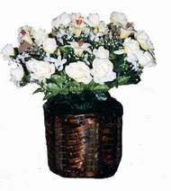 yapay karisik çiçek sepeti   Amasya cicek , cicekci