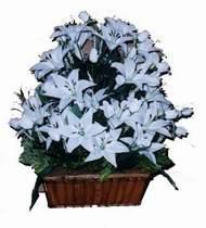 yapay karisik çiçek sepeti   Amasya online çiçek gönderme sipariş