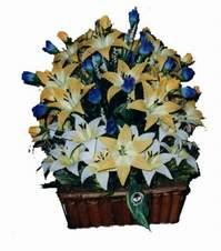 yapay karisik çiçek sepeti   Amasya çiçek gönderme