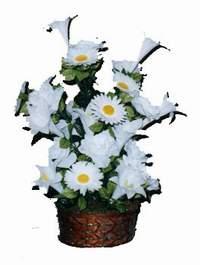 yapay karisik çiçek sepeti  Amasya çiçek siparişi vermek