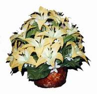 yapay karisik çiçek sepeti   Amasya çiçek siparişi sitesi