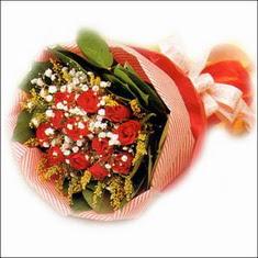 12 adet kirmizi gül buketi   Amasya çiçekçiler