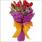 kirmizi lale buketi demeti   Amasya ucuz çiçek gönder