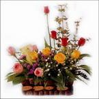 sepette karisik aranjman   Amasya hediye sevgilime hediye çiçek