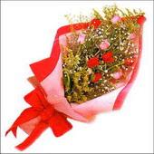 12 adet renkli  gül buketi   Amasya çiçekçi mağazası