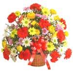 karisik renkli çiçek sepet   Amasya çiçek gönderme sitemiz güvenlidir