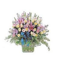 sepette kazablanka ve güller   Amasya çiçek gönderme