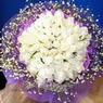 71 adet beyaz gül buketi   Amasya çiçek , çiçekçi , çiçekçilik