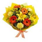 Amasya çiçek , çiçekçi , çiçekçilik  orta boy  buket demetlik - karisik buket anneler günü  için -