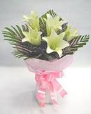 3 adet lilyum çiçegi buketi   Amasya çiçek , çiçekçi , çiçekçilik