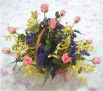 Amasya çiçek yolla  pembe güllerden sepetde