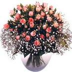 büyük cam fanusta güller   Amasya çiçek yolla