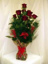 10 adet kirmizi güllerden  Amasya uluslararası çiçek gönderme
