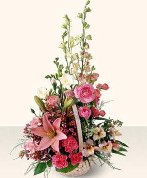 Amasya uluslararası çiçek gönderme  karma mevsim çiçeklerinden aranjman