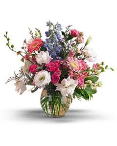 Amasya uluslararası çiçek gönderme  karisik mevsim demeti vazo içerisinde