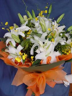 Amasya internetten çiçek satışı  5 ADET KAZABLANKA BUKETI KALITEDEN SASMAYANLARA