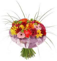 karisik gerbera demeti 15 adet gerberalardan  Amasya çiçekçi mağazası