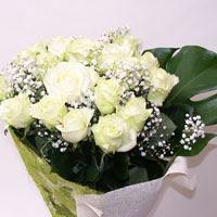 Amasya hediye çiçek yolla  11 adet sade beyaz gül buketi