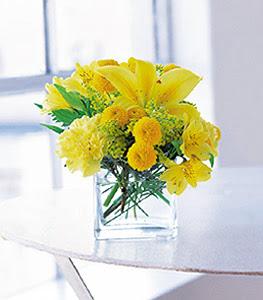 Amasya ucuz çiçek gönder  sarinin sihri cam içinde görsel sade çiçekler