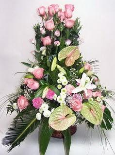 Amasya ucuz çiçek gönder  özel üstü süper aranjman