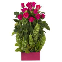12 adet kirmizi gül aranjmani  Amasya çiçek mağazası , çiçekçi adresleri