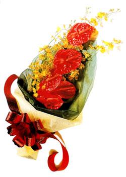 özel 5 adet antorium buketi   Amasya çiçek gönderme sitemiz güvenlidir