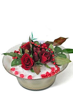 Amasya çiçek siparişi vermek  EN ÇOK Sevenlere 7 adet kirmizi gül mika yada cam tanzim