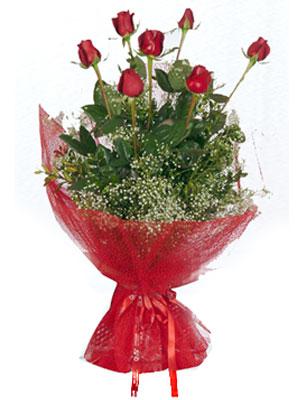 Amasya çiçek servisi , çiçekçi adresleri  7 adet gülden buket görsel sik sadelik