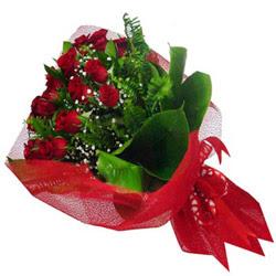 Amasya kaliteli taze ve ucuz çiçekler  12 adet kirmizi essiz gül buketi - SEVENE ÖZEL