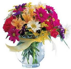 Amasya internetten çiçek satışı  cam yada mika içerisinde karisik mevsim çiçekleri